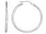 Diamond Cut Sterling Silver Hoop Earrings