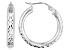Diamond Cut Sterling Silver Hoop Earrings