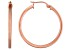 18k Rose Gold Over Sterling Silver Squared Tube Hoop Earrings