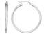 Polished Sterling Silver Square Tube Hoop Earrings