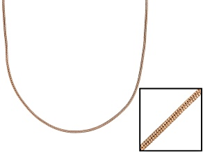 18k Rose Gold Over Sterling Silver Snake Link Chain 24 inch
