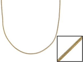 18k Yellow Gold Over Sterling Silver Snake Link Chain 24 inch