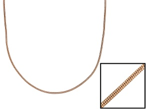 18k Rose Gold Over Sterling Silver Snake Link Chain 36 inch