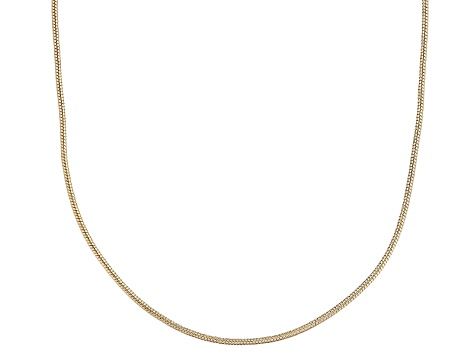 18k Yellow Gold Over Sterling Silver Snake Link Chain 36 inch