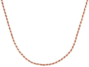 Twisted Rope Link 18k Rose Gold Over Sterling Silver Chain 18 inch