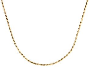 18k Yellow Gold Over Sterling Silver Twisted Rope Link Chain 18 inch