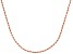 18k Rose Gold Over Sterling Silver Twisted Rope Link Chain 24 inch