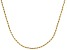18k Yellow Gold Over Sterling Silver Twisted Rope Link Chain 24 inch