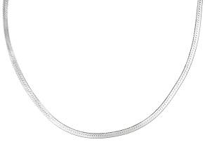 Sterling Silver Herringbone Link Chain 24 inch