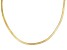 18k Yellow Gold Over Sterling Silver Herringbone Link Chain 24 inch