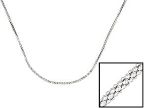 Silver Popcorn Chain 24 inch
