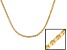 18k Yellow Gold Over Sterling Silver Popcorn Link Chain 24 inch