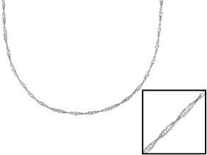 Sterling Silver Singapore Link Chain 18 inch