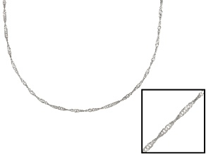 Sterling Silver Singapore Link Chain 24 inch