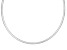 2mm Sterling Silver 18 inch Omega Necklace   Made in Italy