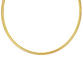 2mm 18k Yellow Gold Over Sterling Silver 18 inch Omega Necklace            Made in Italy