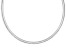 4mm Sterling Silver 18 inch Omega Necklace     Made in Italy