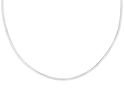 2mm Sterling Silver 18 inch Wire Collar Necklace