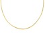 2mm 18k Yellow Gold Over Sterling Silver 18 inch Wire Collar Necklace