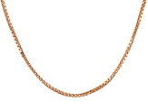 18k Rose Gold Over Sterling Silver Box Chain 18 inch
