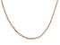 18k Rose Gold Over Sterling Silver .5mm Box Chain 24 inch