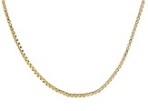 18k Yellow Gold Over Sterling Silver Box Chain 24 inch
