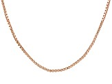 18k Rose Gold Over Sterling Silver Chain 36 inch