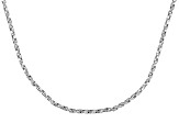 Sterling Silver Twisted Box Link Chain 18 inch