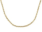 18k Yellow Gold Over Sterling Silver Twisted Box Link Chain 18 inch