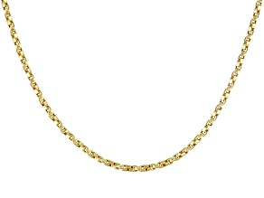 18k Yellow Gold Over Sterling Silver Twisted Box Link Chain 24 inch