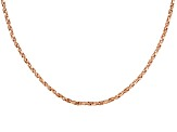 18k Rose Gold Over Sterling Silver Twisted Box Link Chain 36