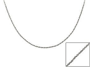 Twisted Box Link Sterling Silver 36 inch Chain   Made in Italy