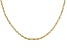 18k Yellow Gold Over Sterling Silver Twisted Box Link Chain 36 inch