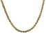 18k Yellow Gold Over Sterling Silver Twisted Herringbone Necklace 18 inch