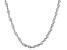 Twisted Herringbone Sterling Silver 36 inch Chain    Made in Italy