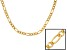 18k Yellow Gold Over Sterling Silver Figaro Link Chain 18 inch