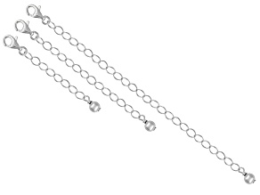 Sterling Silver 1, 2 And 4 inch Extender Set Of 3
