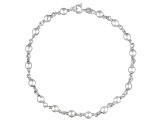 Beaded Chain Italian Sterling Silver Anklet