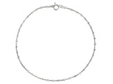 Beaded Snake Chain Italian Sterling Silver Anklet
