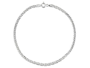 Curb Link Chain Italian Sterling Silver Anklet
