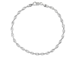 TWISTED MAGIC CHAIN ITALIAN STERLING SILVER ANKLET