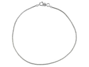 Italian Rock Sterling Silver Sterling Silver Anklet