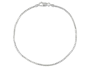 Italian Magic Diamond Cut Sterling Silver Anklet