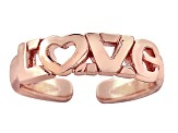 "18k Rose Gold Over Sterling Silver ""Love"" Toe Ring"