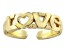 "18k Yellow Gold Over Sterling Silver ""Love"" Toe Ring"