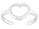 Open Heart Polished Sterling Silver Toe Ring
