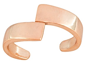 Polished 18k Rose Gold Over Sterling Silver Bypass Toe Ring