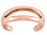 Polished 18k Rose Gold Over Sterling Silver Split Toe Ring