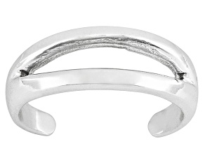 Polished Sterling Silver Split Toe Ring