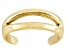 Polished 18k Yellow Gold Over Sterling Silver Split Toe Ring